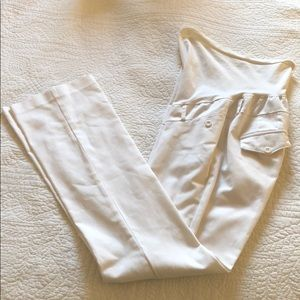 Motherhood Maternity- white work pant